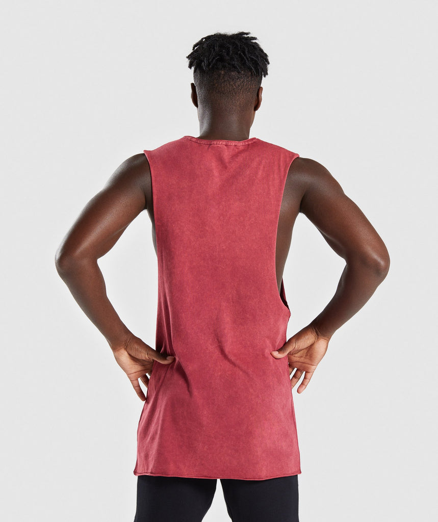 Gymshark Acid Wash Drop Arm Sleeveless T-Shirt - Port 2