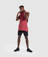 Gymshark Acid Wash Drop Arm Sleeveless T-Shirt - Port 10