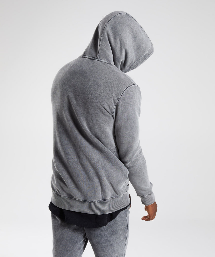 Gymshark Acid Wash Pullover - Light Grey 2