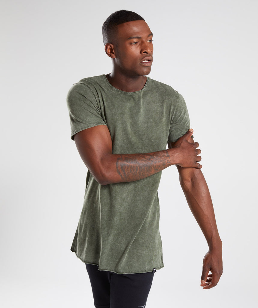 Gymshark Acid Wash T-Shirt - Alpine Green 1