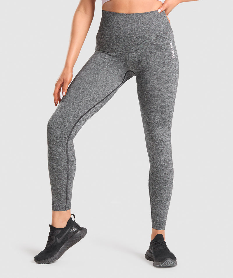 Gymshark Adapt Marl Seamless Leggings - Black