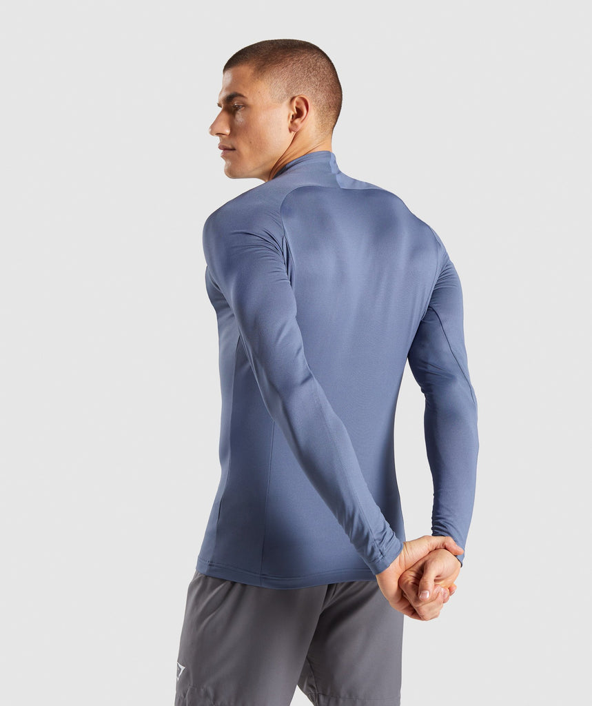 6561f576ea ... Gymshark Advanced 1 4 Zip Pullover - Aegean Blue 2
