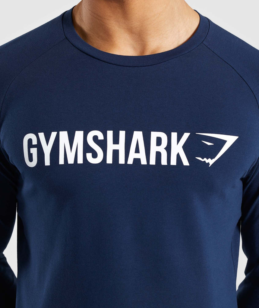 Gymshark Apollo Long Sleeve T-Shirt - Blue 5