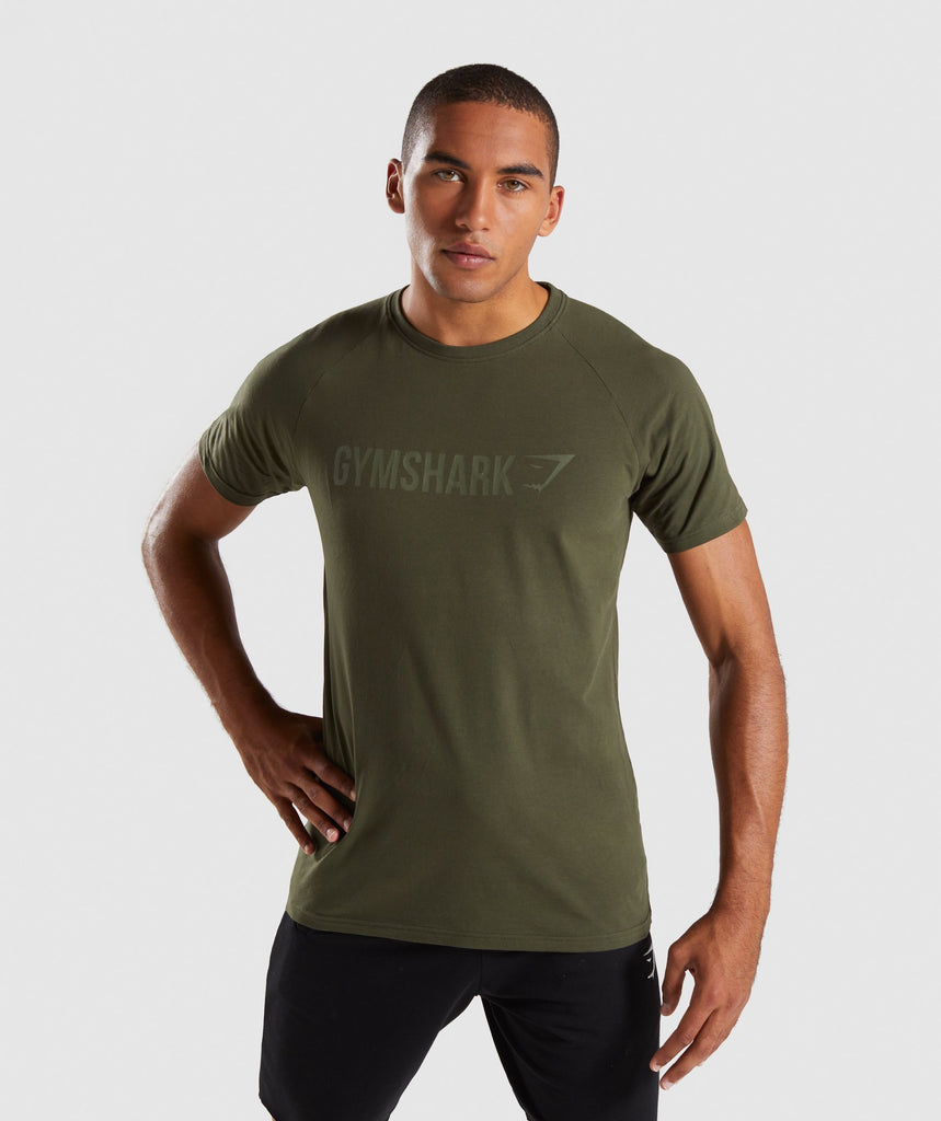 Gymshark Apollo T-Shirt - Woodland Green 1