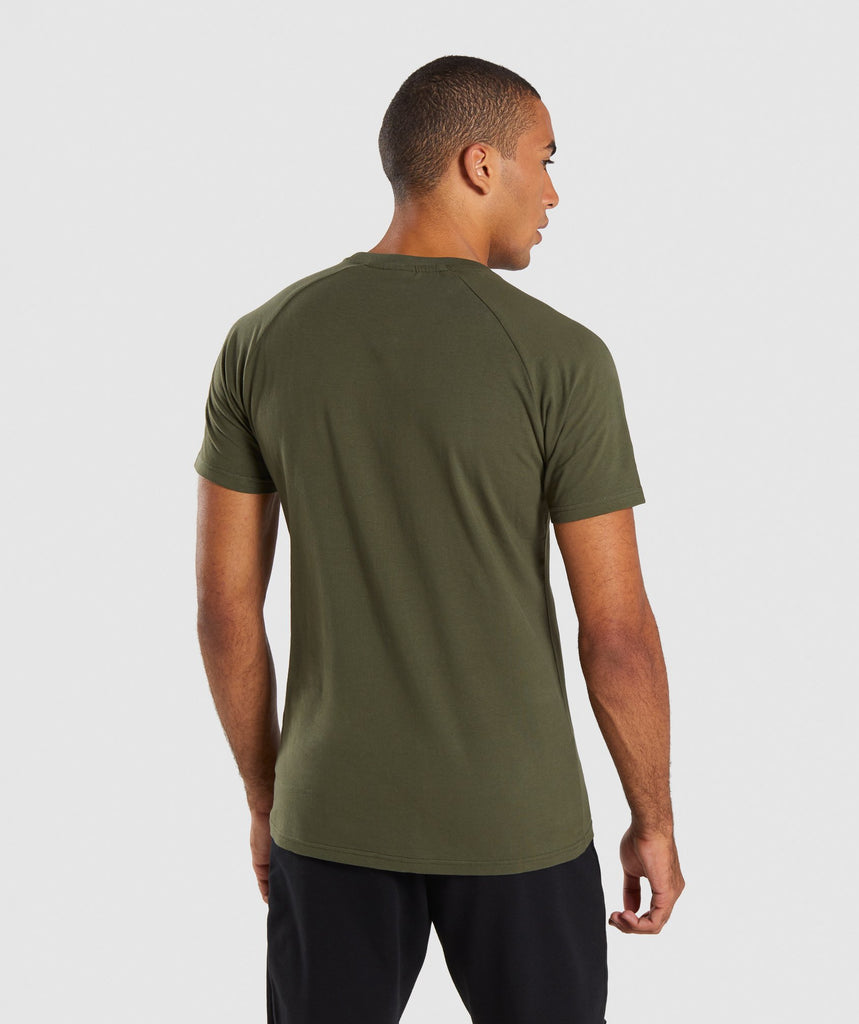 Gymshark Apollo T-Shirt - Woodland Green 2