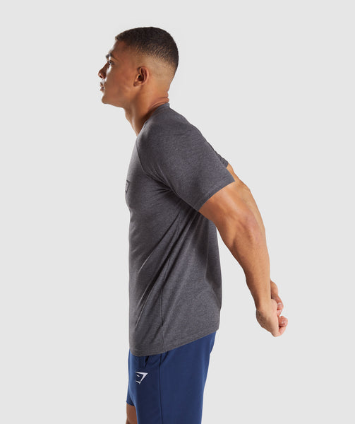 Gymshark Apollo T-Shirt - Charcoal Marl 2
