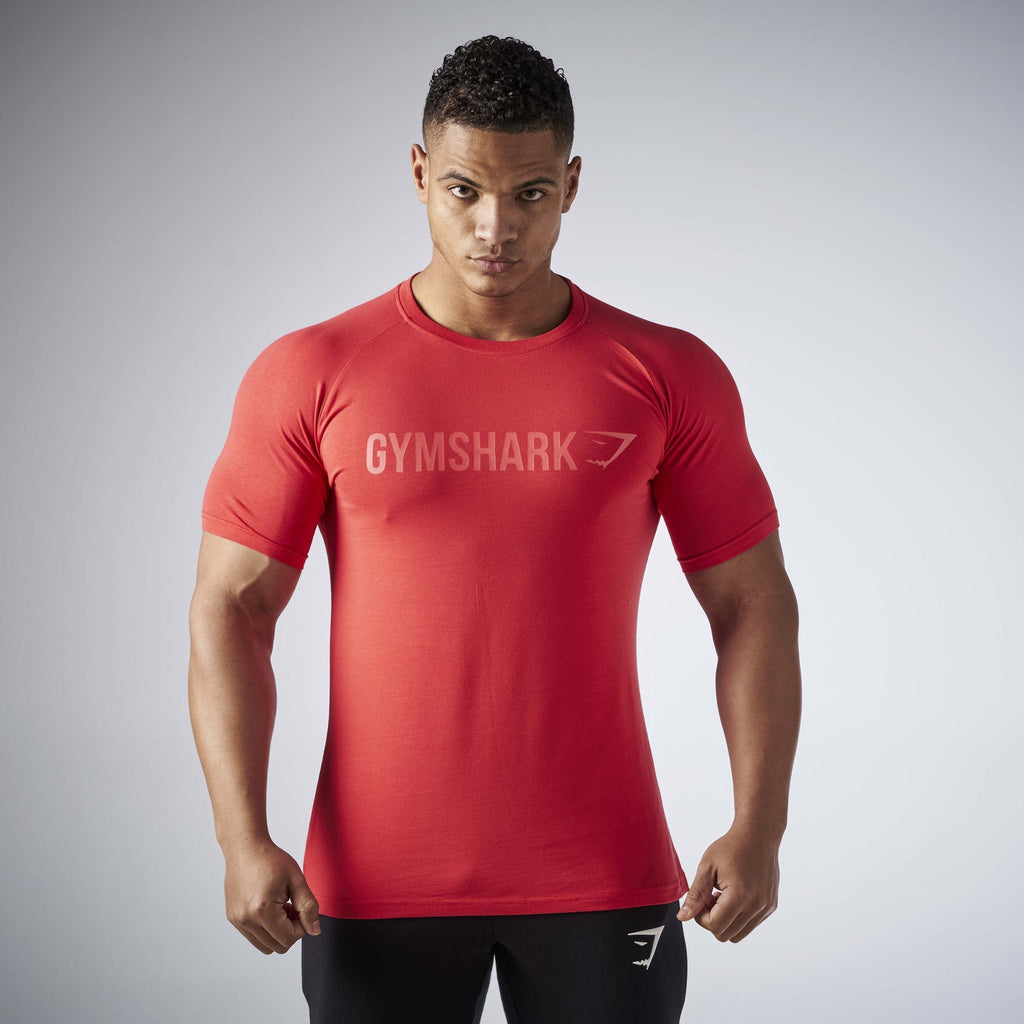Gymshark Apollo T-Shirt - Volcanic Red 1
