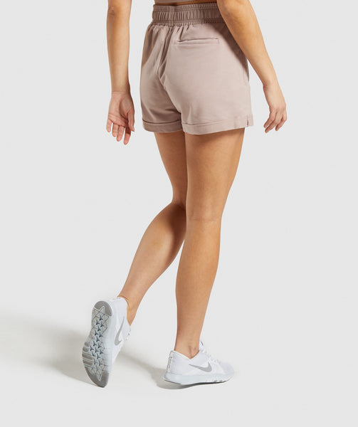 Gymshark Ark High Waisted Shorts - Taupe 4