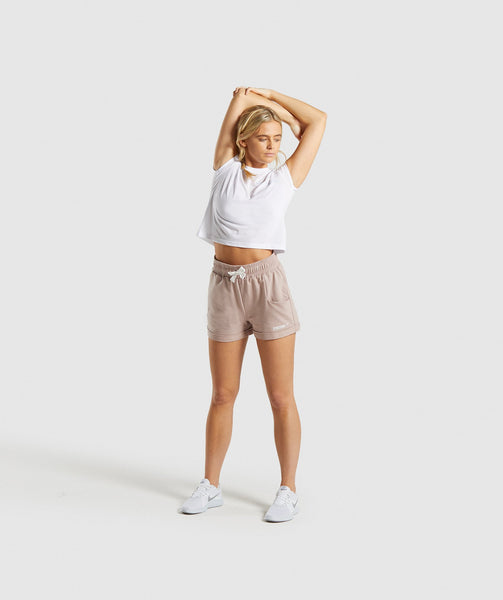 Gymshark Ark High Waisted Shorts - Taupe 3