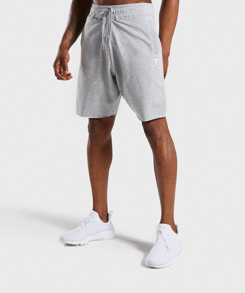 Gymshark Ark Shorts - Light Grey Marl 1