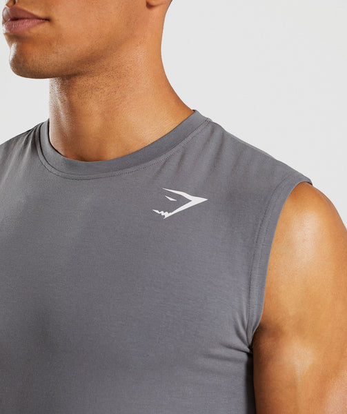 Gymshark Ark Sleeveless T-Shirt - Smokey Grey 4
