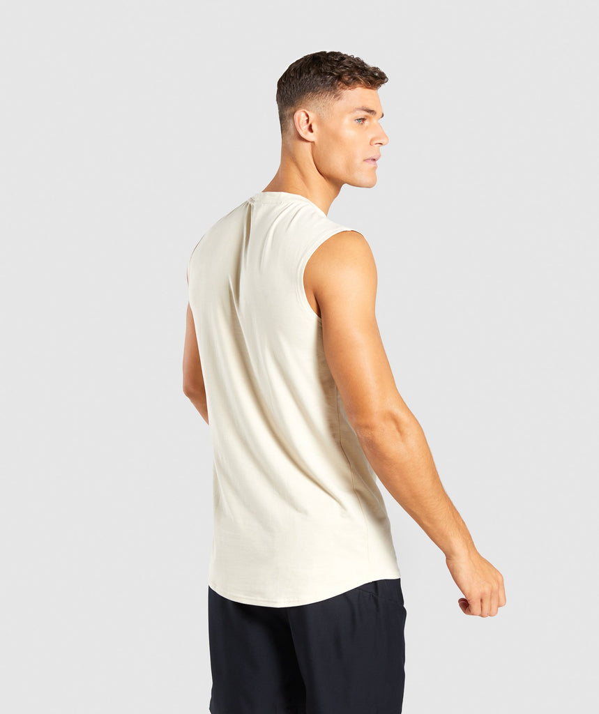 Gymshark Ark Sleeveless T-Shirt - Warm Beige 2