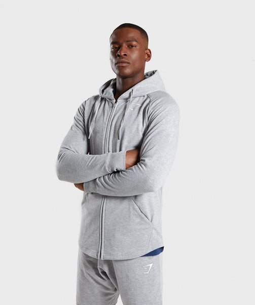 Gymshark Ark Zip Hoodie - Light Grey Marl 4