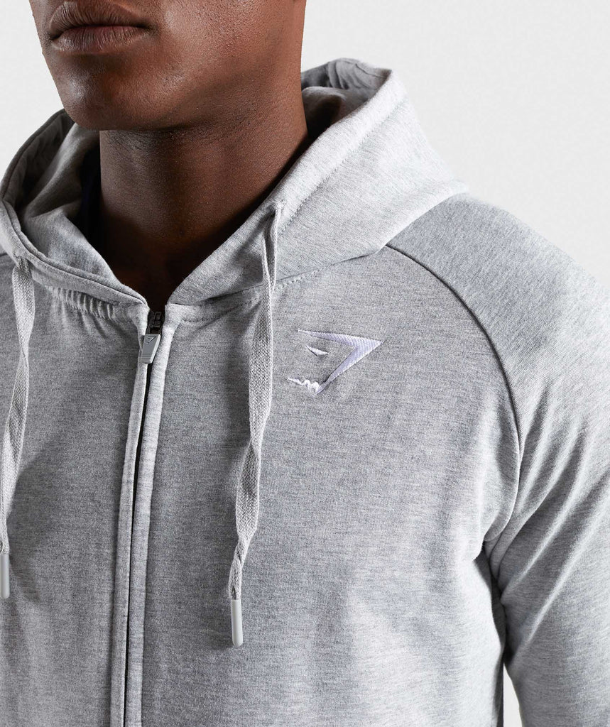 Gymshark Ark Zip Hoodie - Light Grey Marl 5