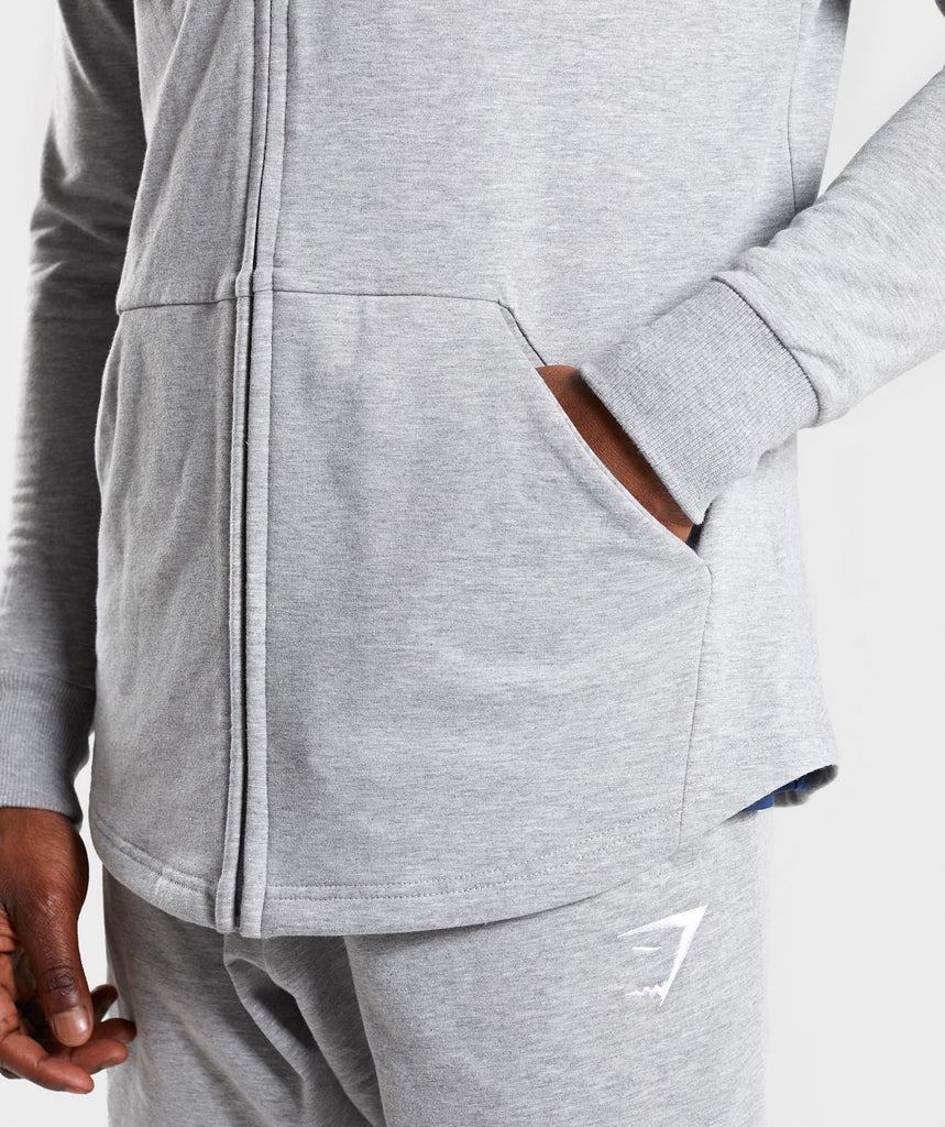 Gymshark Ark Zip Hoodie - Light Grey Marl 6