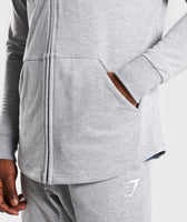 Gymshark Ark Zip Hoodie - Light Grey Marl 12