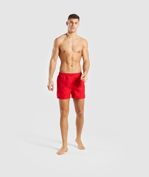Gymshark Atlantic Swim Shorts - Red 3