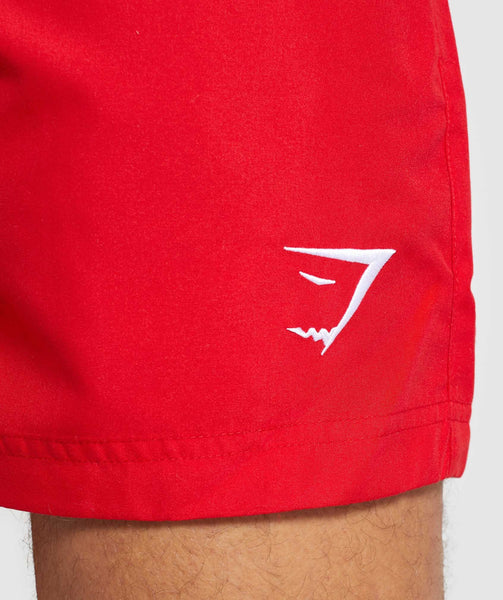 Gymshark Atlantic Swim Shorts - Red 4