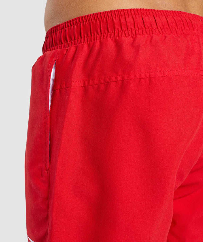 Gymshark Atlantic Swim Shorts - Red 6