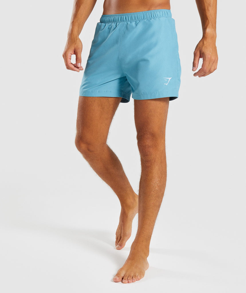 Gymshark Atlantic Swim Shorts - Dusky Teal 1