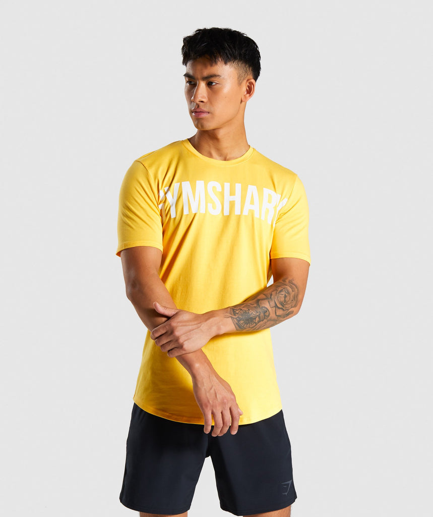 Gymshark Bold Graphic T-Shirt - Yellow 1
