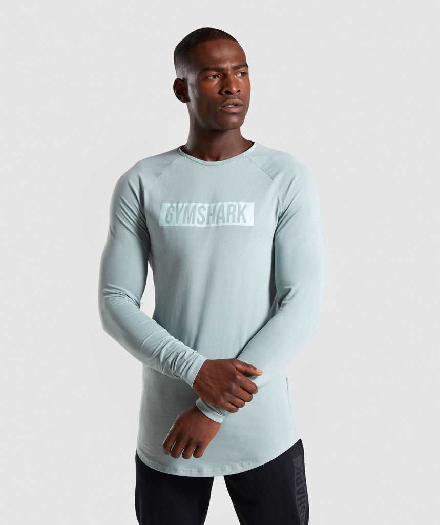 Gymshark Block Long Sleeve T-Shirt - Light Blue 1