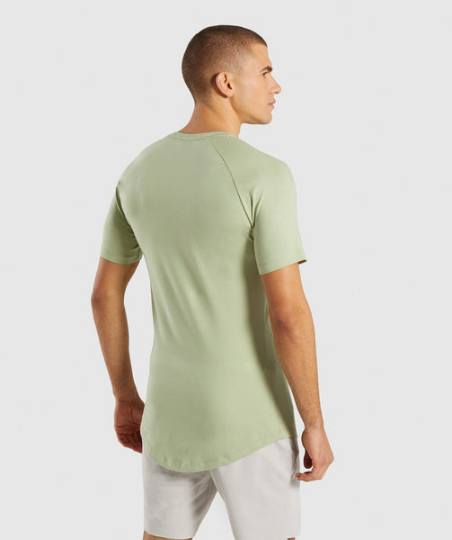 Gymshark Block T-Shirt - Chalk Green 1