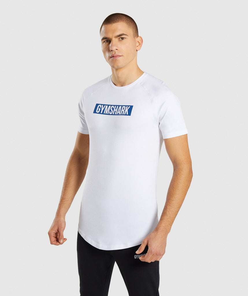 Gymshark Block T-Shirt - White 1