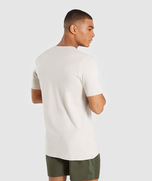 Gymshark Bold T-Shirt - Washed Beige 1