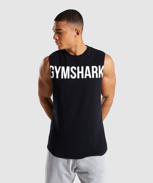 Gymshark Bold Graphic Drop Armhole Tank - Black 4
