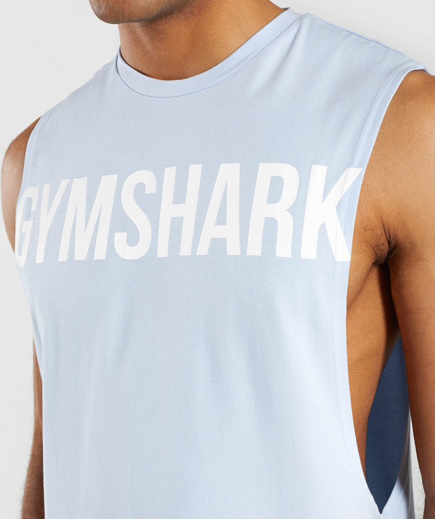 Gymshark Bold Graphic Drop Armhole Tank - Blue 6