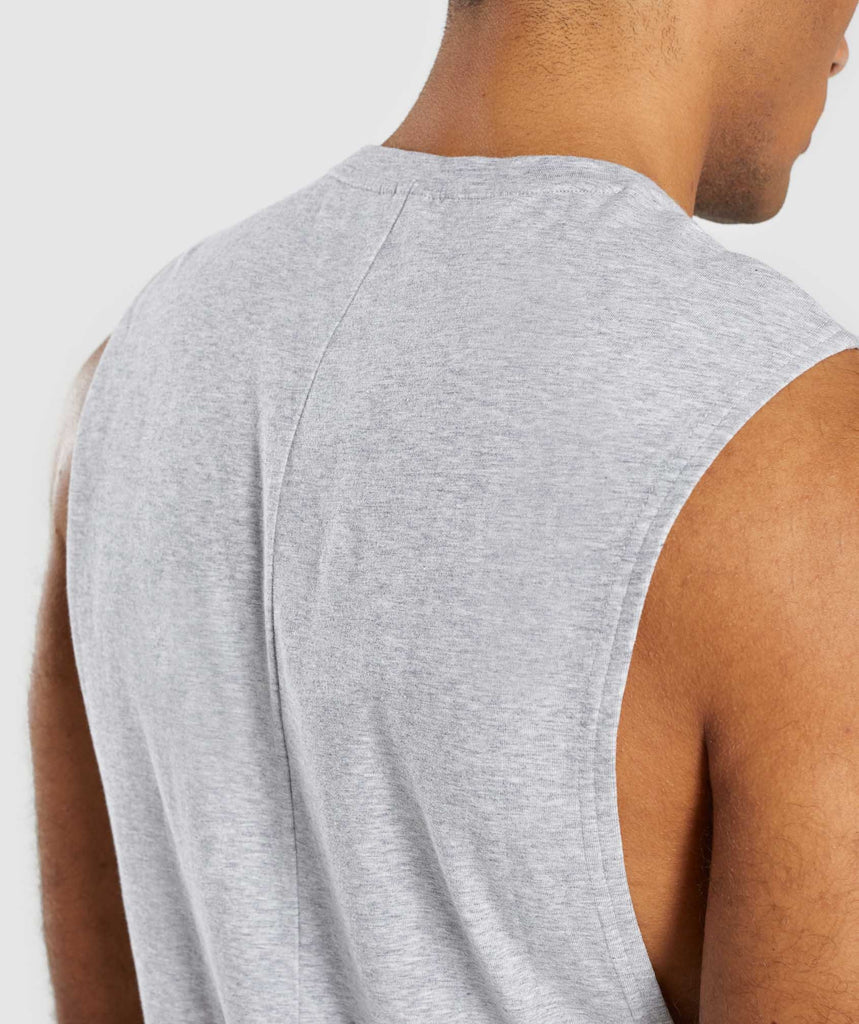 Gymshark Bold Graphic Drop Armhole Tank - Grey 6