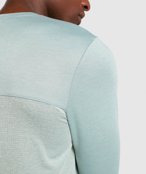 Gymshark Breathe Long Sleeve T-Shirt - Pale Green 4