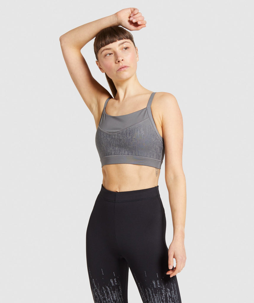 Gymshark Combat Sports Bra - Smokey Grey 1