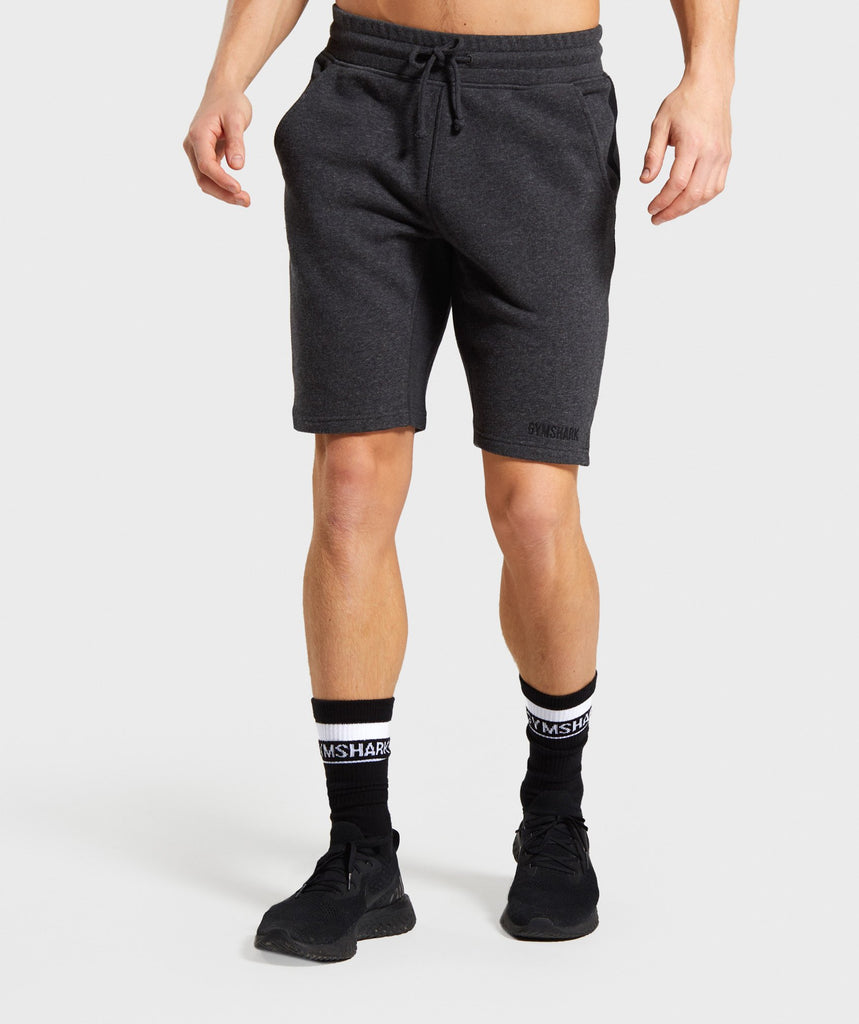 Gymshark Compound Shorts - Black Marl 1