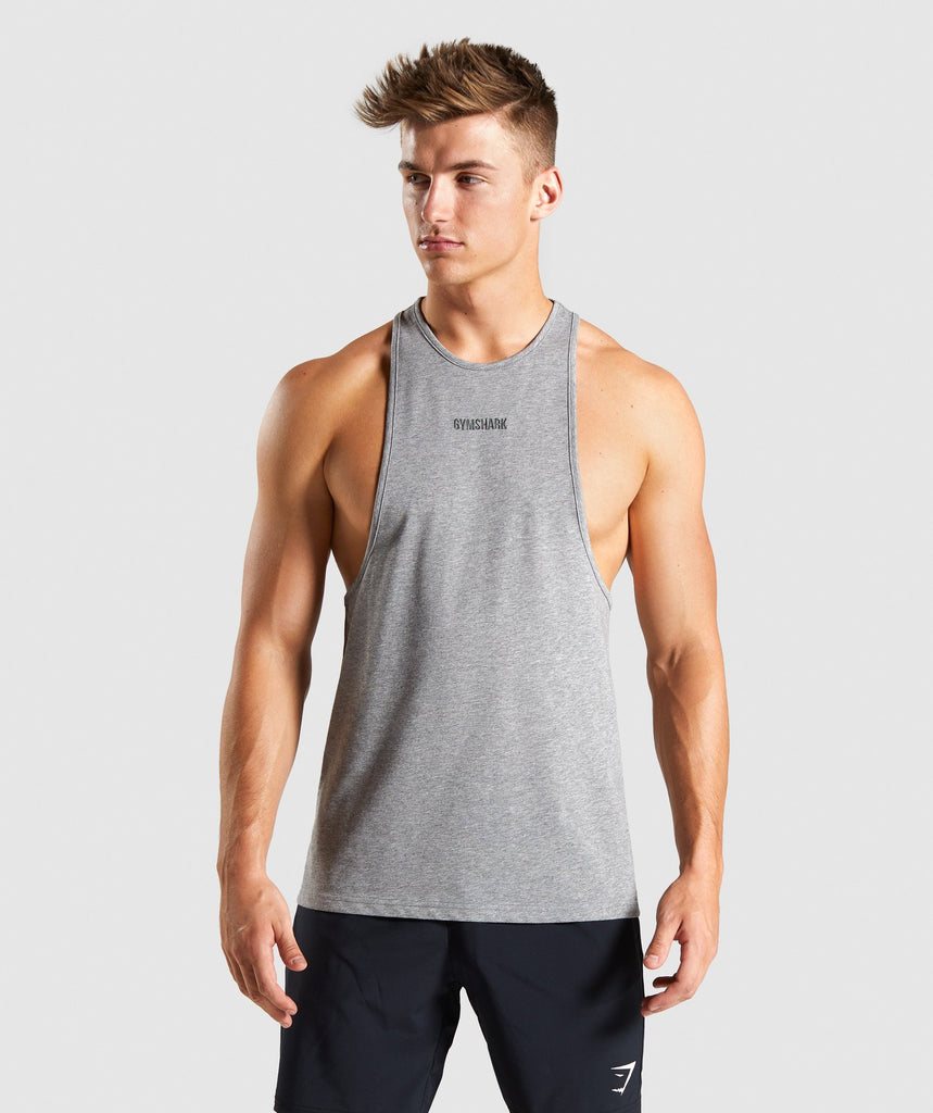 Gymshark Compound Stringer - Grey 1