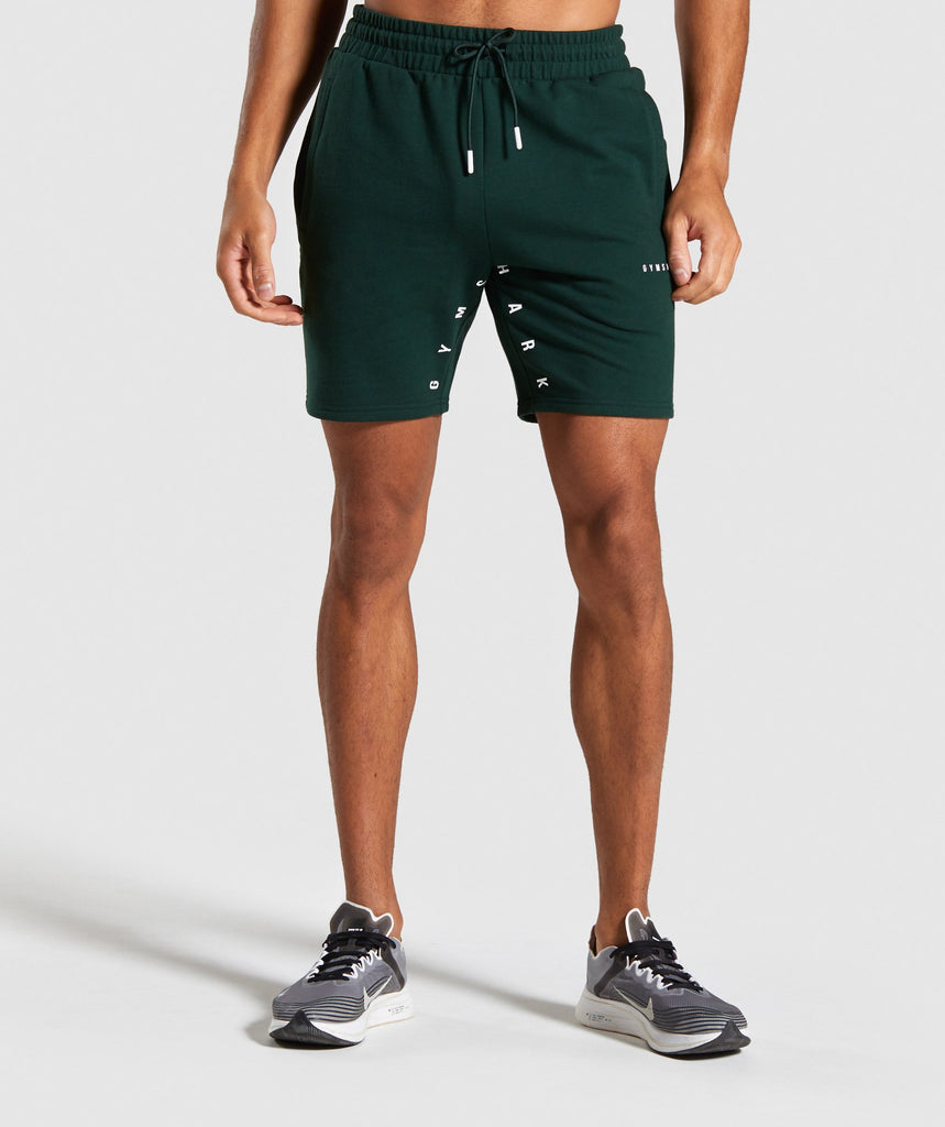 Gymshark Contrast Shorts - Green 1