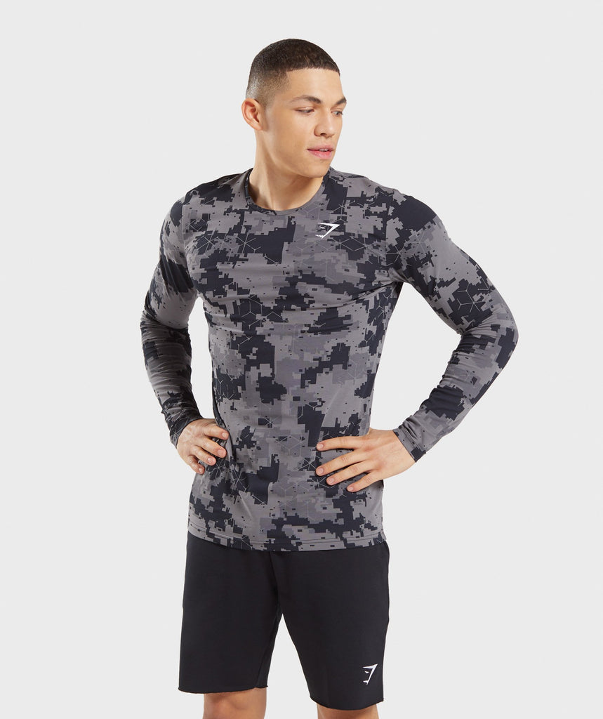 Gymshark Critical Long Sleeve T-Shirt - Camo print 1