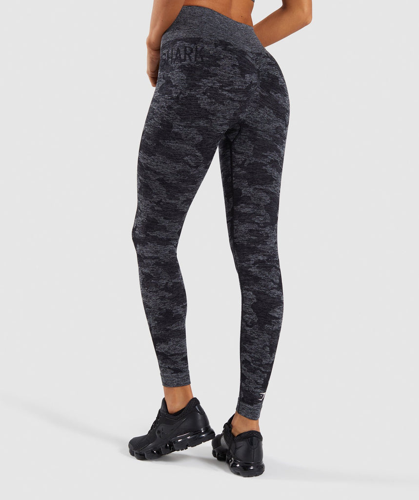 wholesale online quality first luxuriant in design Gymshark Camo Seamless Leggings - Black