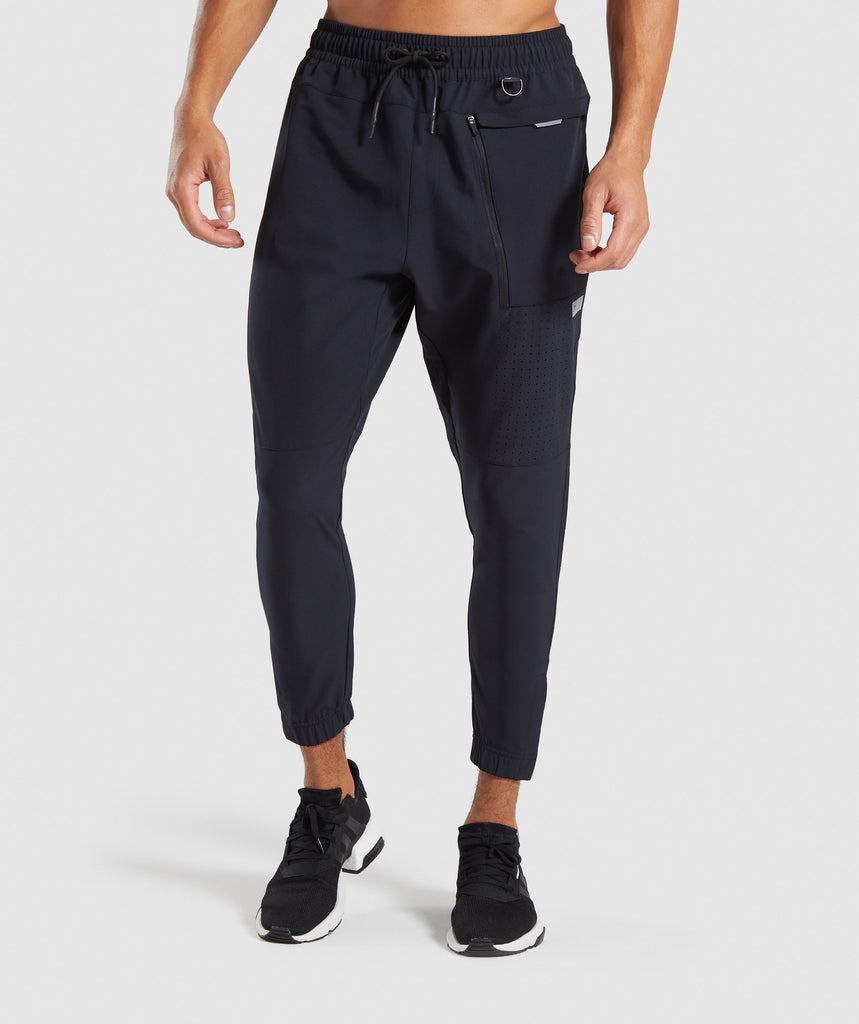Gymshark Cargo Tech Bottoms - Black 1