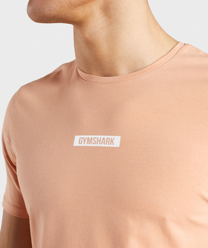 Gymshark Central T-Shirt - Orange 5
