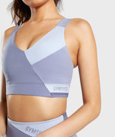 Gymshark Colour Block Sports Bra - Steel Blue Tones 11