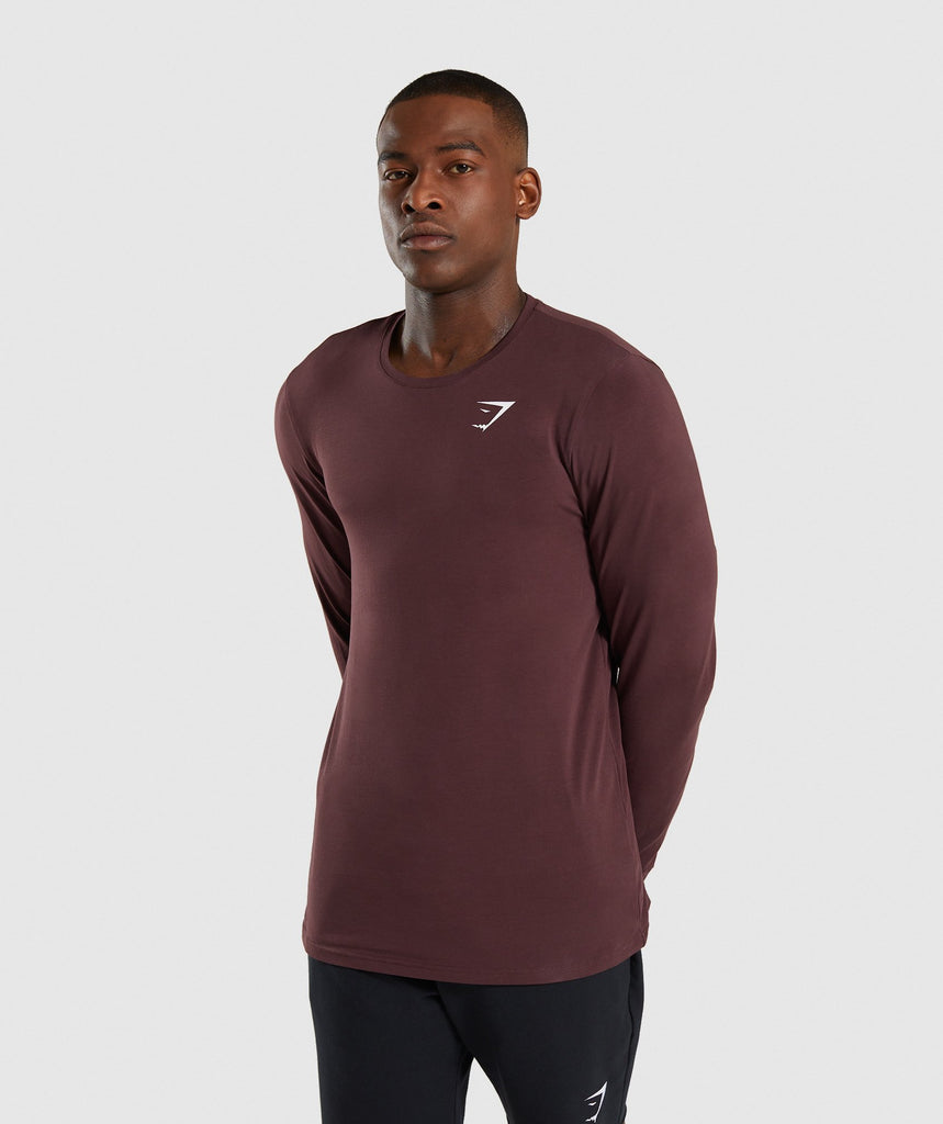 Gymshark Critical Long Sleeve T-Shirt - Red 1