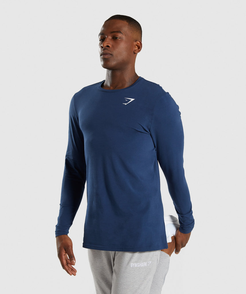 Gymshark Critical Long Sleeve T-Shirt - Blue 1