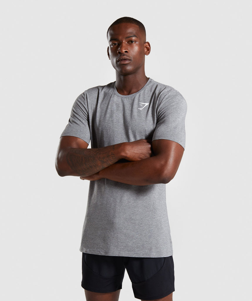 Gymshark Critical T-Shirt - Grey Marl 1