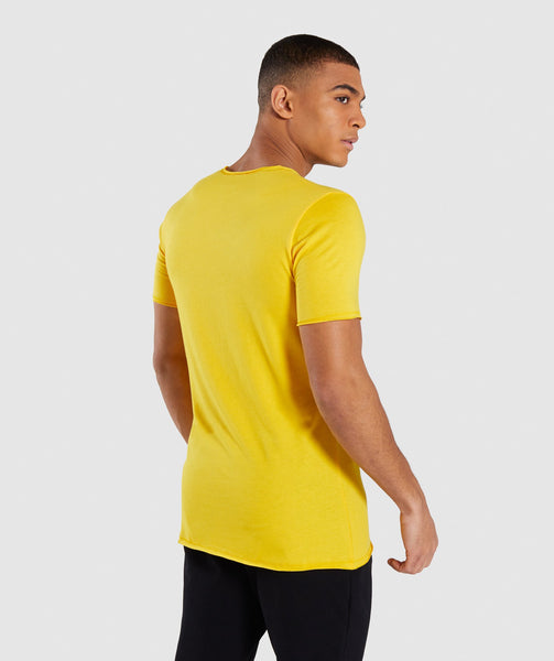 Gymshark Crucial T-Shirt - Yellow 1