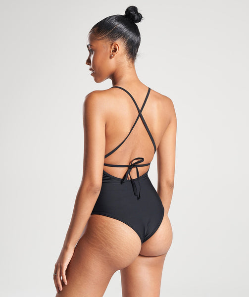 Gymshark Cut Out Swimsuit - Black 1