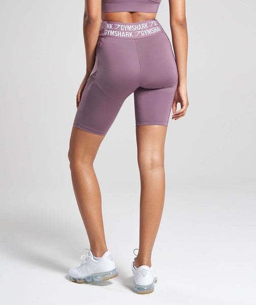 Gymshark Elevate Cycling Shorts - Purple Wash 1