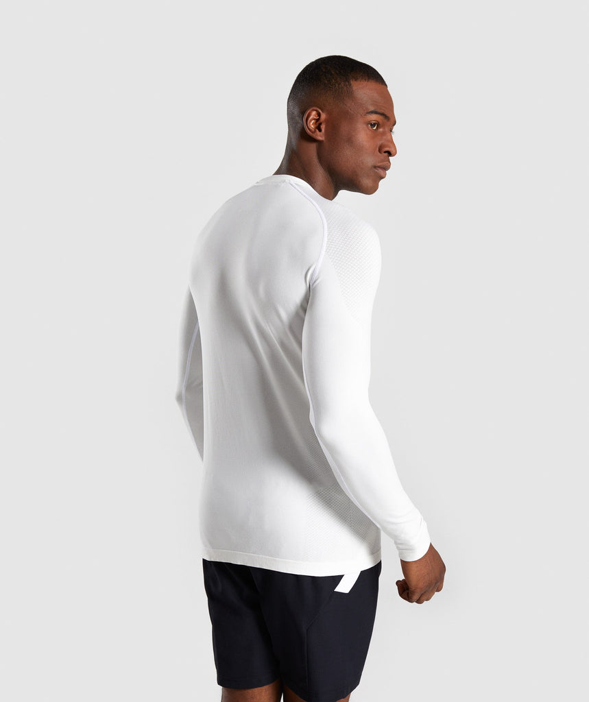 Gymshark Define Seamless Long Sleeve T-Shirt - White 2