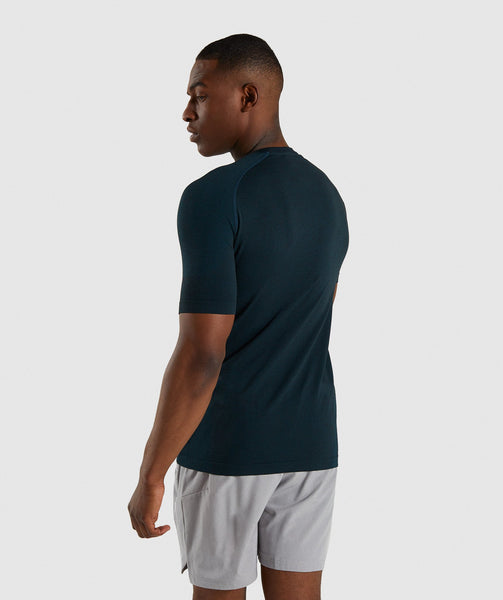Gymshark Define Seamless T-Shirt - Blue 1